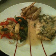 Coconut, Lime and Chilli Baked Fish With Thai Potato Wedges
