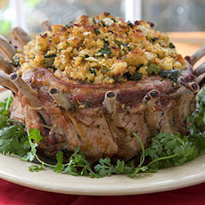 Crown Roast of Pork with Corn Bread-Poblano Stuffing