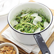 Linguine With Watercress & Almond Pesto