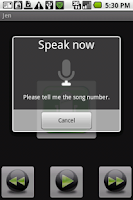 Screenshot of Hal Media Player with voice