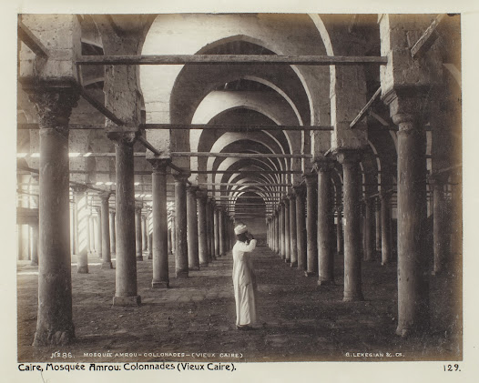 The first part of the Amr ibn al-As mosque was constructed in the 7th century and was the first mosque in Egypt.