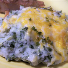 Mashed Potato Spinach Casserole