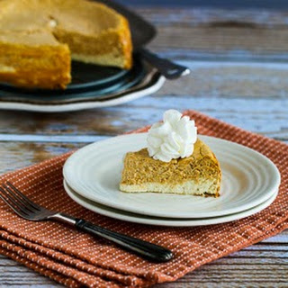 Low-Sugar (or Sugar-Free) Layered Pumpkin Cheesecake
