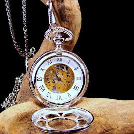 Kansas City Railroad Pocket Watch by Gene Hite - Artistic Objects Still Life ( pocket watch, watch, jesse james, object, artistic, jewelry,  )