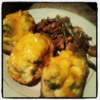Chicken N' Broccoli Twice Baked Potatoes
