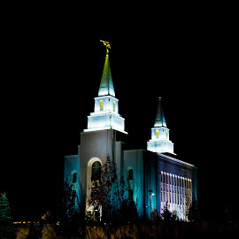 Church at night by Joseph Martinez - Buildings & Architecture Places of Worship ( night shots, night photo, night photography, church, nightshot, d5200, nighttime, nightscene, night time, night, nikon )