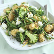 Lemony Potato, Broccoli & Goat's Cheese Salad