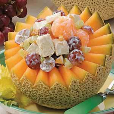 Melon Turkey Salad