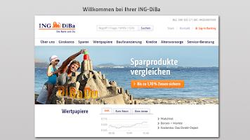 Screenshot of ING-DiBa Banking + Brokerage