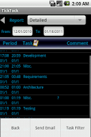 Screenshot of TickTock - Task TimeCard