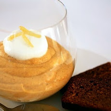 Pumpkin Mousse with Gingerbread Crumbs