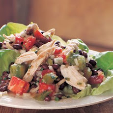 Chicken Salad with Tomatoes, Black Beans and Cilantro