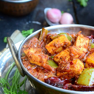 Restaurant Style Karahi Paneer \ Indian cottage Cheese in a Spicy Gravy
