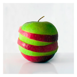 Bipolar by René Švigir - Food & Drink Fruits & Vegetables ( red, bipolar, green, apple, white )