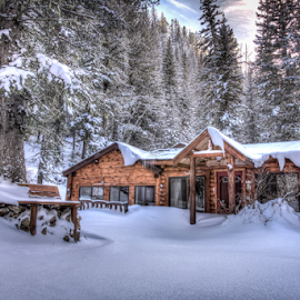 Winter Cabin by Dave Zuhr - Buildings & Architecture Other Exteriors ( cabin, winter )