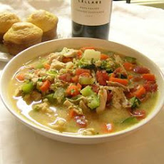 Chicken Vegetable and Peanut Soup