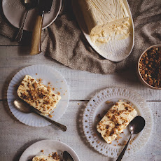 Orange-Fennel Semifreddo with Spicy Chocolate Bits & Almond Streusel
