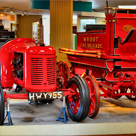 Fire tractor by Nic Scott - Transportation Other ( vintage, cart, tractor )