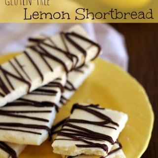 Gluten-Free Chocolate-Drizzled Lemon Shortbread