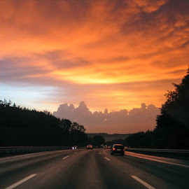 Road to the Heaven by Alexander Hadji - Instagram & Mobile Other ( orange, heaven, road )