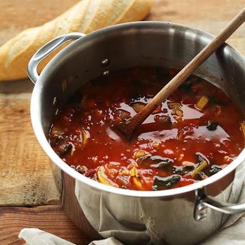 Tomato and Vegetable White Bean Bean Soup