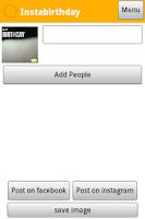 Screenshot of Instabirthday