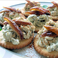 Brandied Blue Cheese & Dates on Crackers
