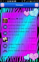 Screenshot of GO SMS - Hearts Candy Zebra 4