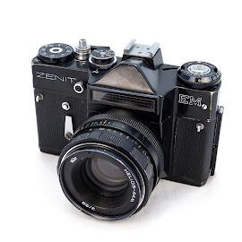 Old Zenit EM by Jean Acevedo - Novices Only Objects & Still Life ( camera, white, nikkor, lens, zenit, chile, m42, kit lens, santiago, nikon, d5100, black, 18-55, digital, device, object )