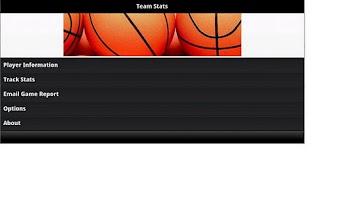 Screenshot of Team Basketball Stats Tracker