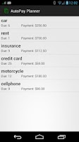 Screenshot of AutoPay Planner (Recurrence)