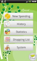 Screenshot of iSpend