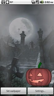 Halloween Live Wallpaper 3D - screenshot