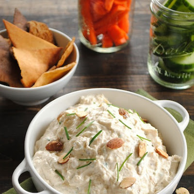 Roasted Garlic and Almond Dip