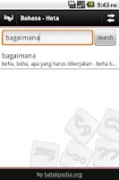 Screenshot of Kamus Batak-Indonesia