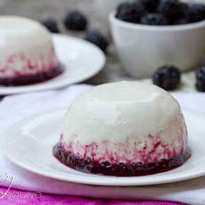 Maple-Blackberry Yogurt Panna Cotta (Giveaway)