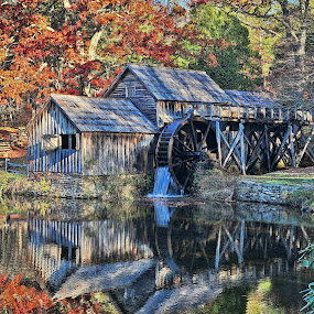 Mabry Mill by Bud Schrader - Buildings & Architecture Public & Historical