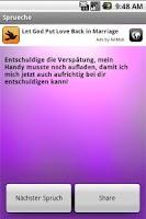 Screenshot of Sprüche