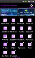 Screenshot of GO SMS Theme Purple Neon