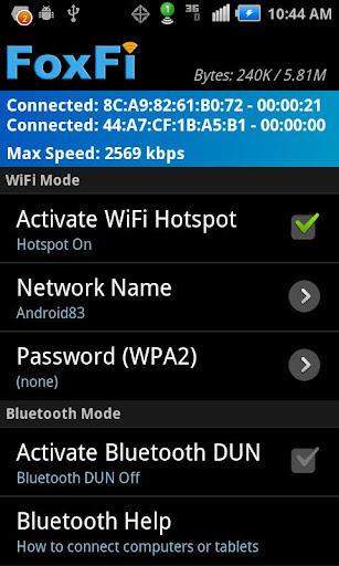 foxfi-wifi-tether-w-o-root for android screenshot