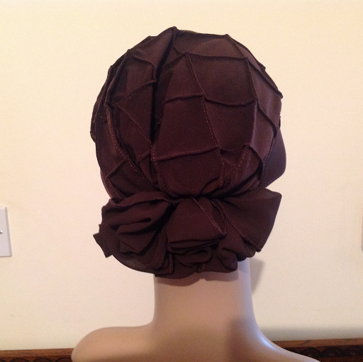 Diamond turban in brown