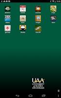Screenshot of UAA Mobile