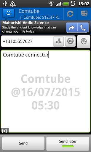 WebSMS: Comtube connector