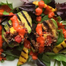 Stuffed Grilled Avocado Salad