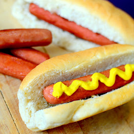 Hotdog Sandwich by Ala'a Al Najjar Darkoush - Food & Drink Cooking & Baking ( sandwich, hotdog, yummy )