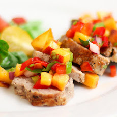 Pork Tenderloin with Peach Salsa