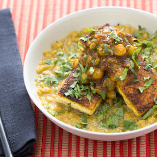 Curried Tofu with Husk Cherry Chutney & Masoor Dal