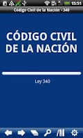 Screenshot of Civil Code Argentina
