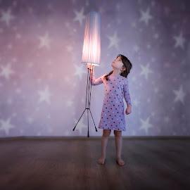 by Силвия Георгиева - Babies & Children Child Portraits ( girl, purple, blue, portrait )