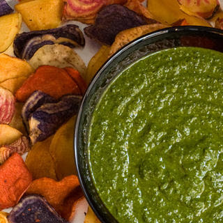 Garlicky Kale and Spinach Dip
